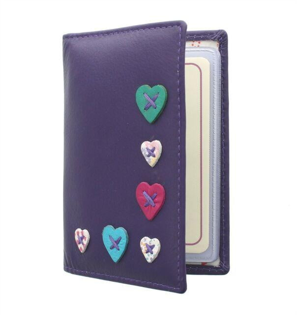 Mala Leather Lucy RFID Card Holder (583 30)  - Purple