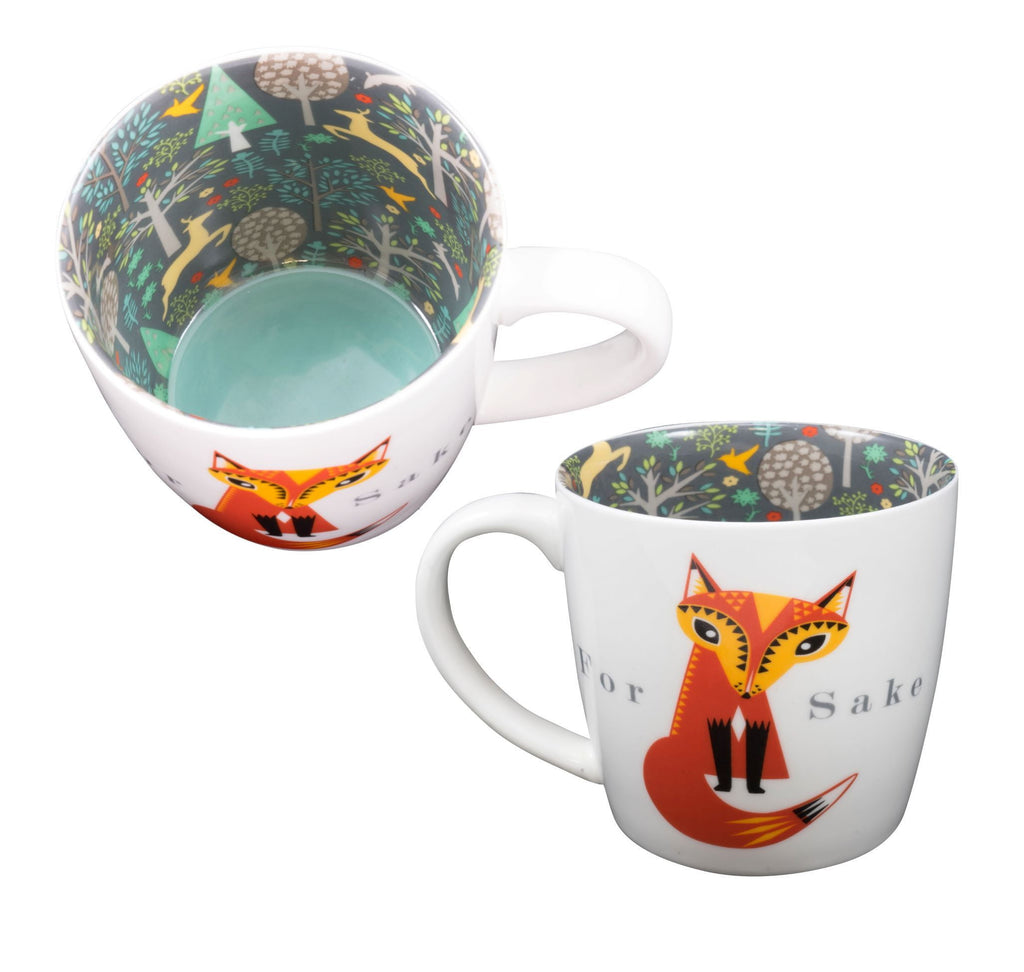 For 'Fox' Sake - Ceramic Inside Out Mug - Hothouse