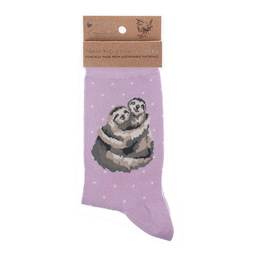 Wrendale Designs 'Big Hugs' Sloth Bamboo Socks