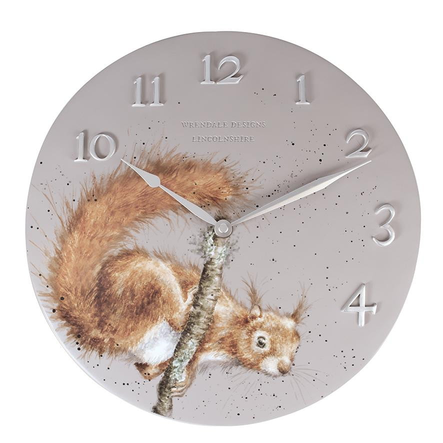 Wrendale Designs 'The Acrobat' Squirrel Wall Clock - Hothouse