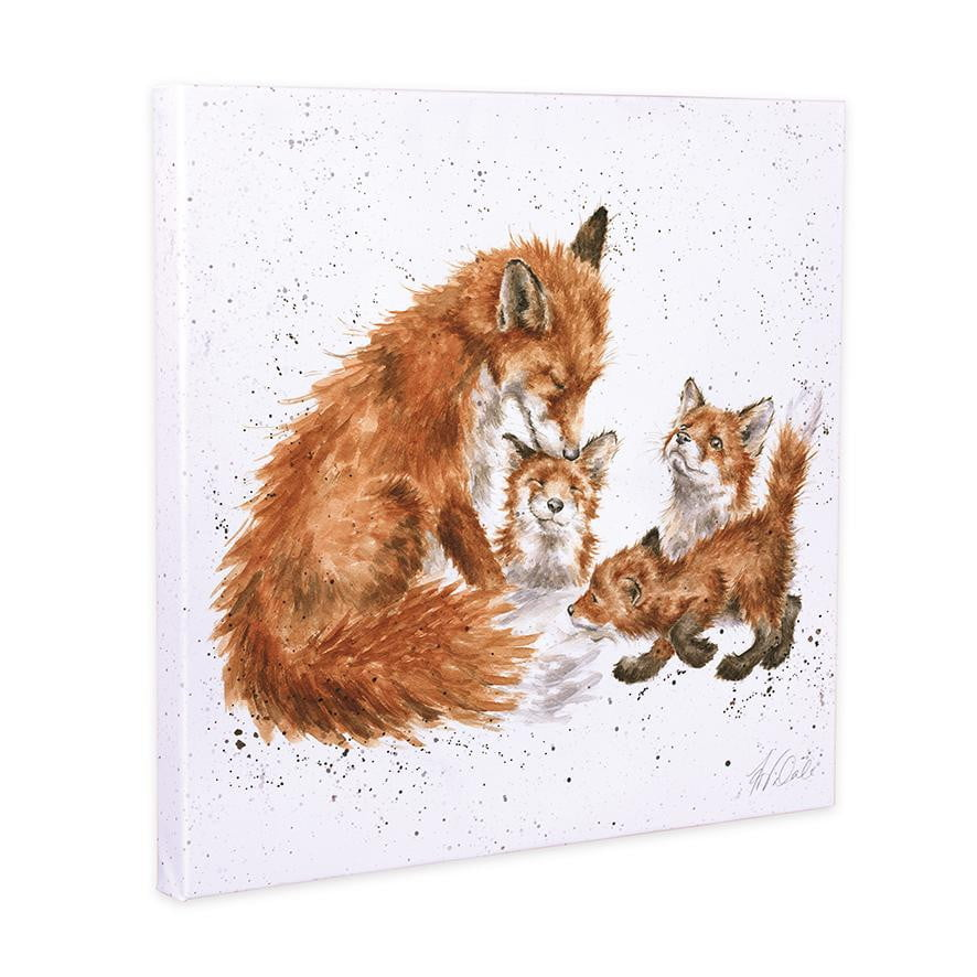 Wrendale Designs - 'The Bedtime Kiss' Fox 20cm Canvas Print - Hothouse