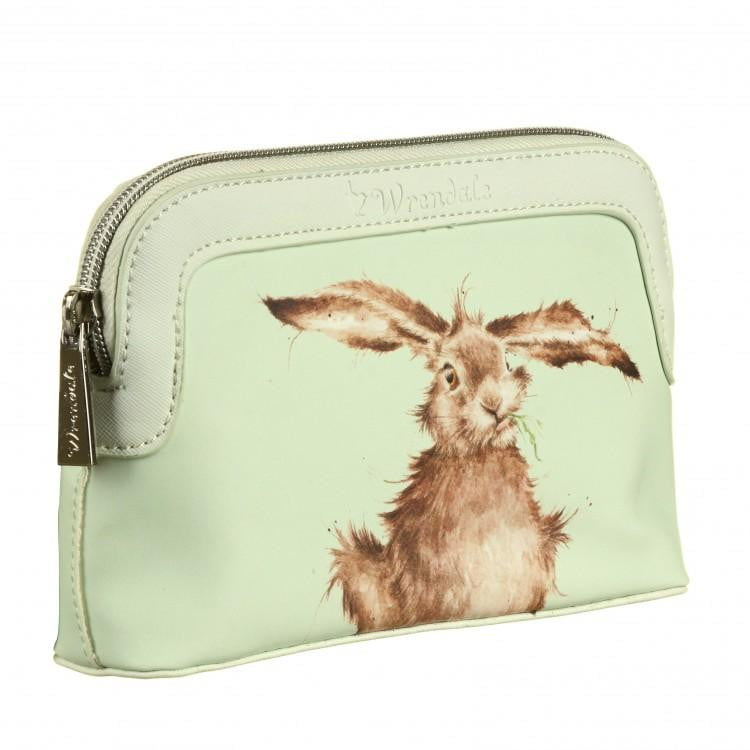 Wrendale Designs - Small 'Hare Brained' Hare Cosmetic Bag - Hothouse