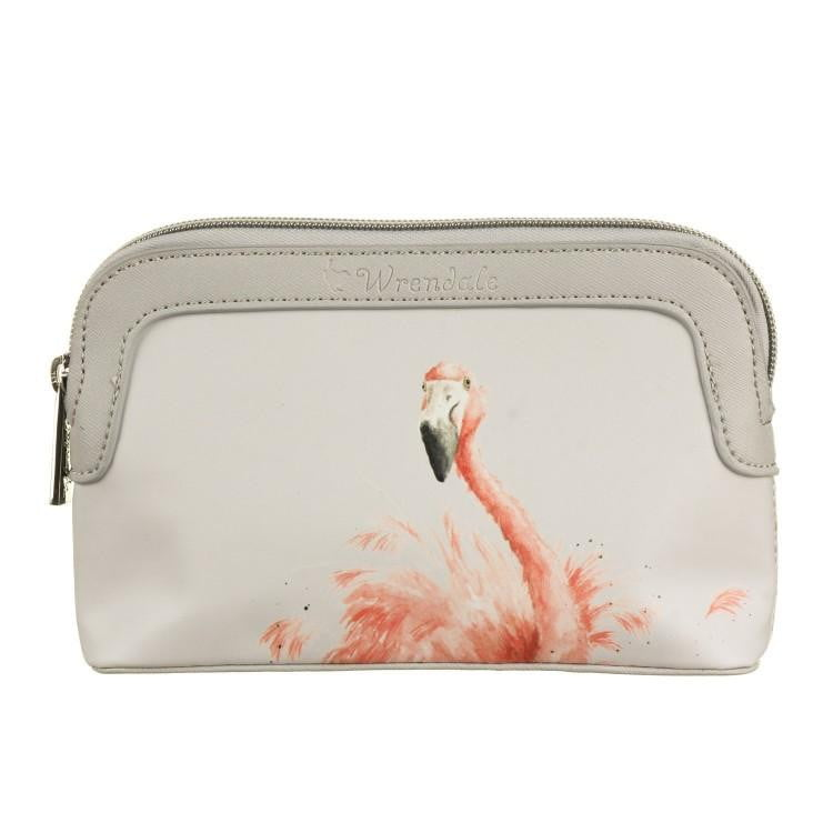Wrendale Designs Small 'Pink Lady' Flamingo Cosmetic Bag - Hothouse