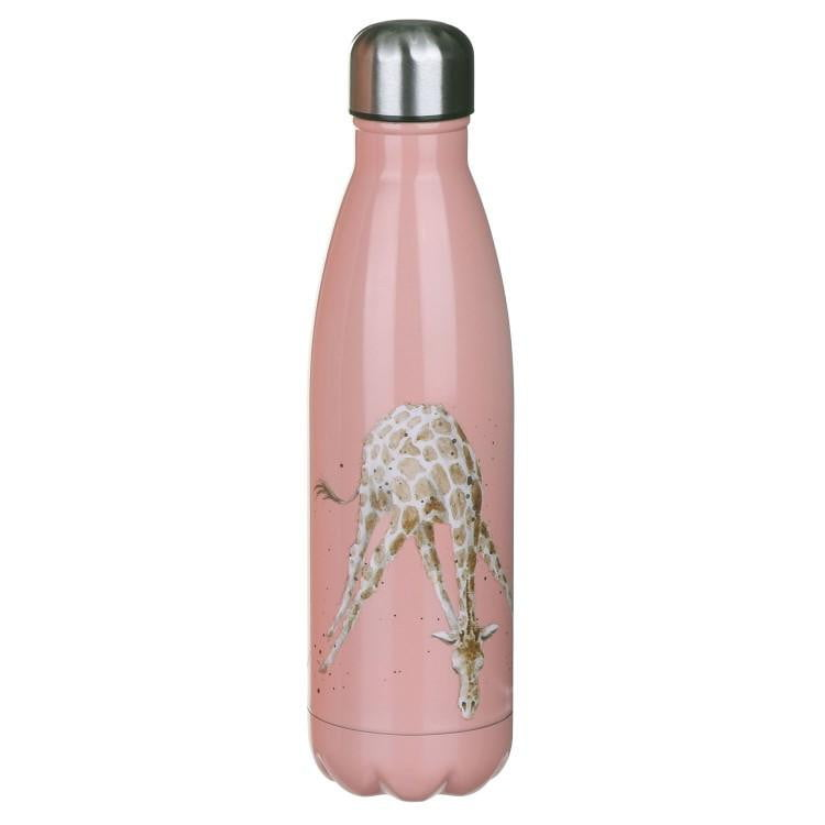 Wrendale Designs - 'Flowers' Giraffe Water Bottle - Hothouse