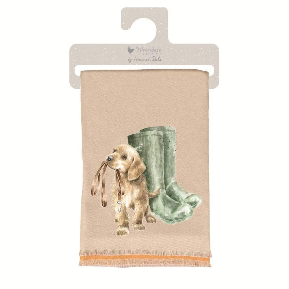 Wrendale 'Hopeful' Labrador Winter Scarf with Gift Bag - Hothouse