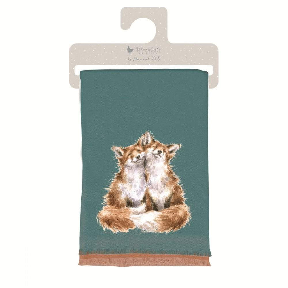 Wrendale 'Contentment' Fox' Winter Scarf with Gift Bag - Hothouse