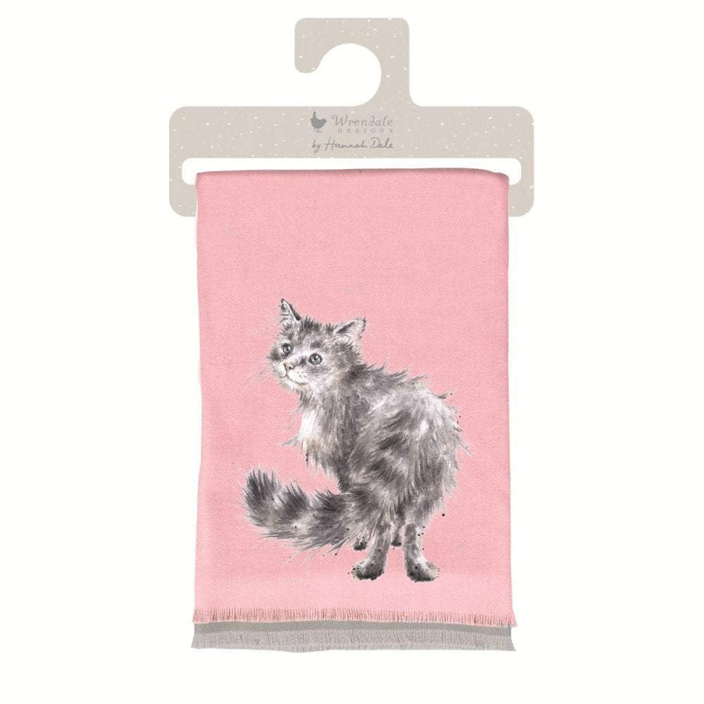 Wrendale 'Glamour Puss' Cat Winter Scarf with Gift Bag - Hothouse