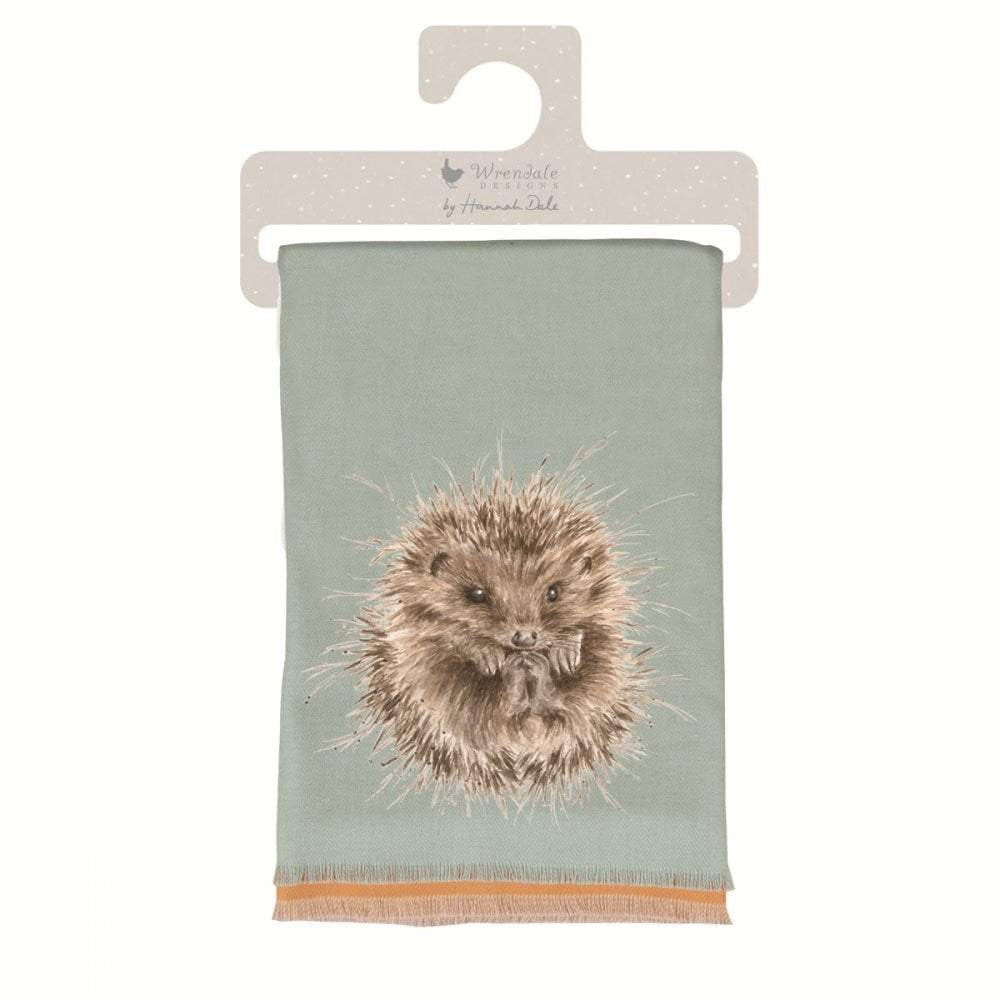 Wrendale 'Awakening' Hedgehog Winter Scarf with Gift Bag - Hothouse