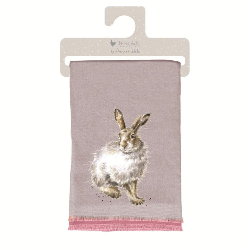 Wrendale  'Mountain Hare' Winter Scarf with Gift Bag - Hothouse