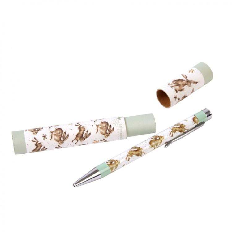 Wrendale Designs - Leaping Hare Pen with Gift Box - Hothouse