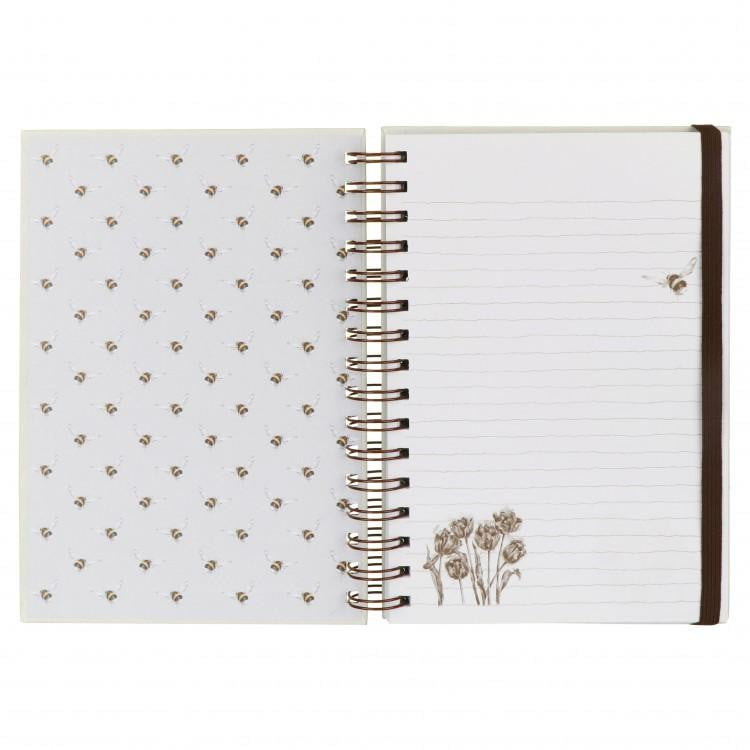 Wrendale Designs 'Flight of the Bumblebee' A5 Spiral Notebook - Hothouse