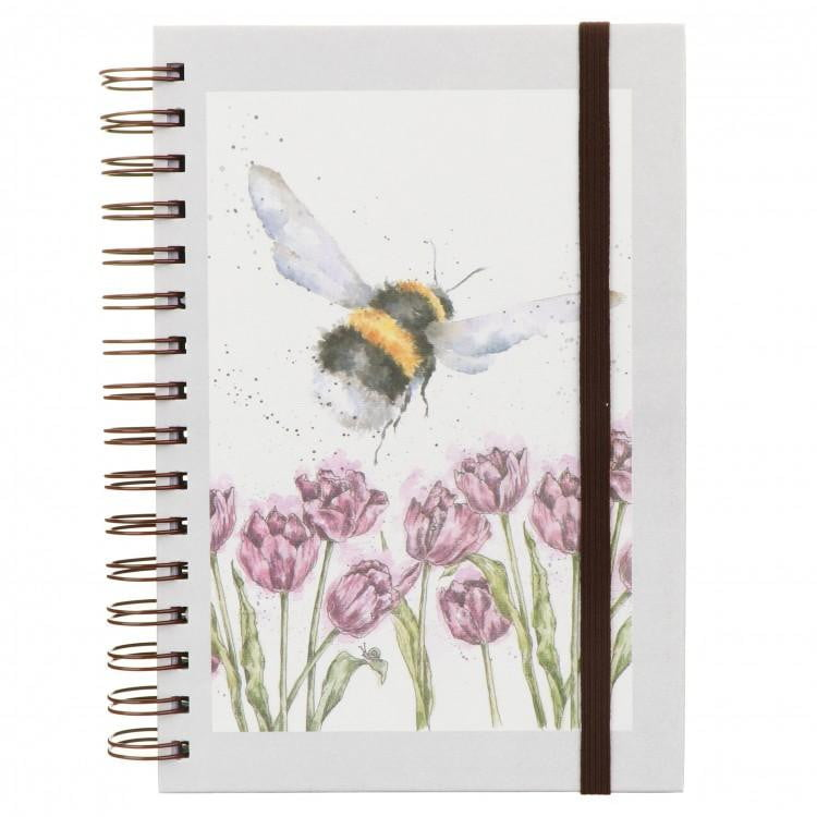 Wrendale Designs 'Flight of the Bumblebee' A5 Spiral Notebook