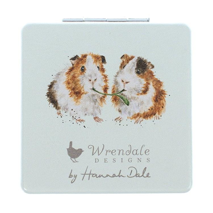 Wrendale Designs 'Piggy in the Middle' Guinea Pig Compact Mirror - Hothouse