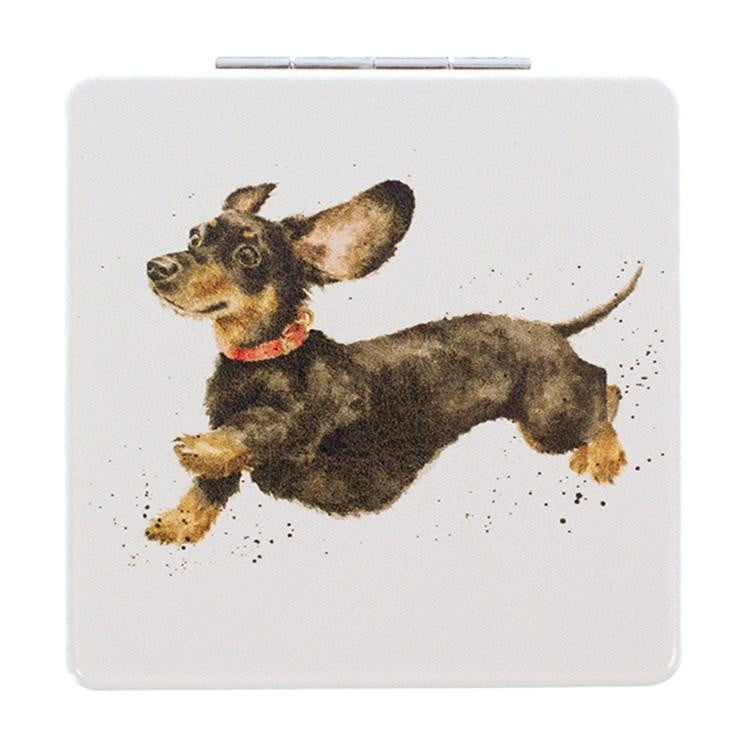 Wrendale Designs 'That Friday Feeling' Dachshund Sausage Dog Compact Mirror - Hothouse