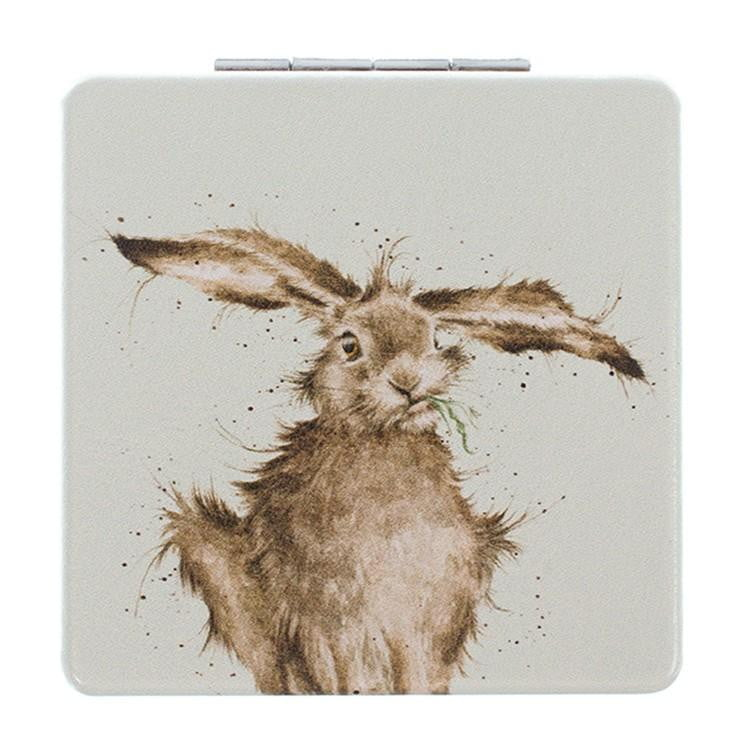 Wrendale Designs 'Hare Brained' Hare Compact Mirror - Hothouse
