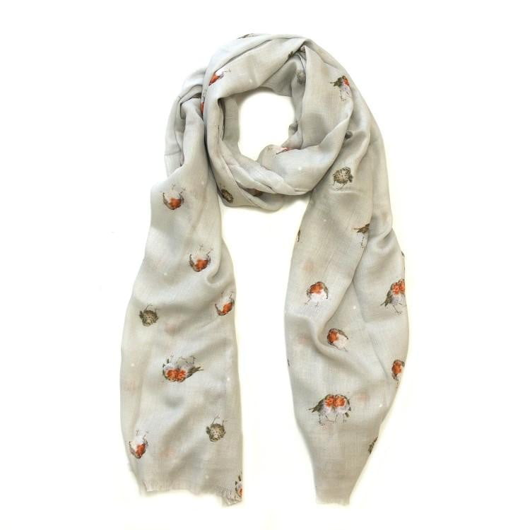 Wrendale Designs Jolly Robin Scarf - Hothouse