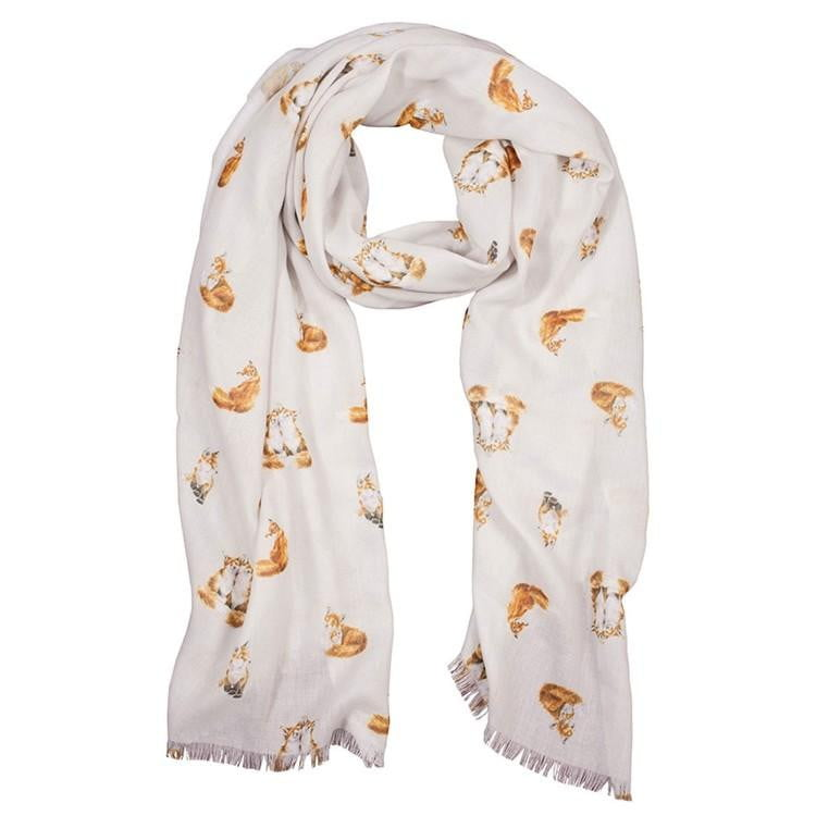 Wrendale Designs 'Born to be Wild' Fox Scarf - Hothouse