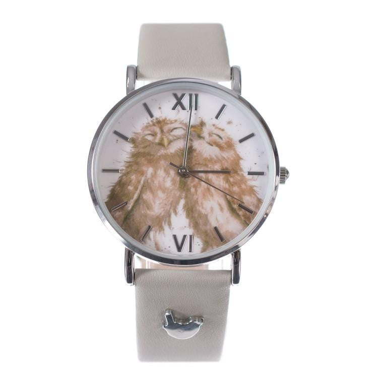 Wrendale Designs - 'Birds of a Feather' Owls Watch with Leather Strap - Hothouse