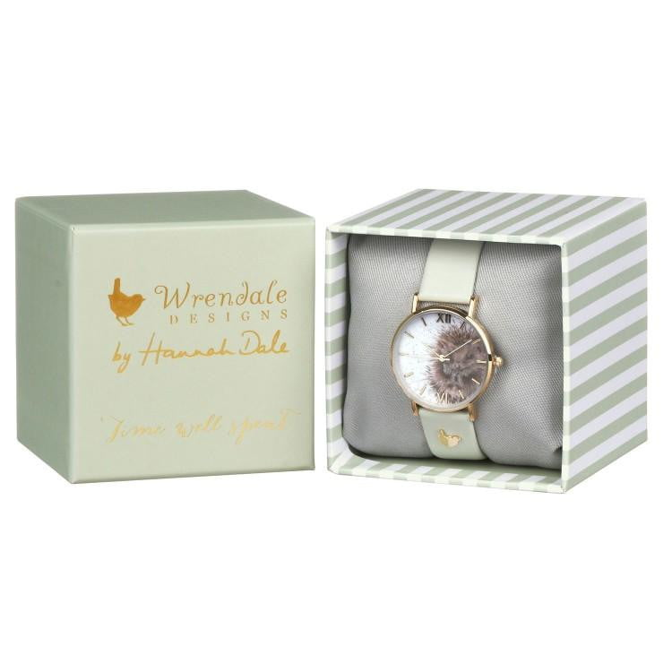 Wrendale Designs - 'Awakening' Hedgehog Watch with Leather Strap - Hothouse