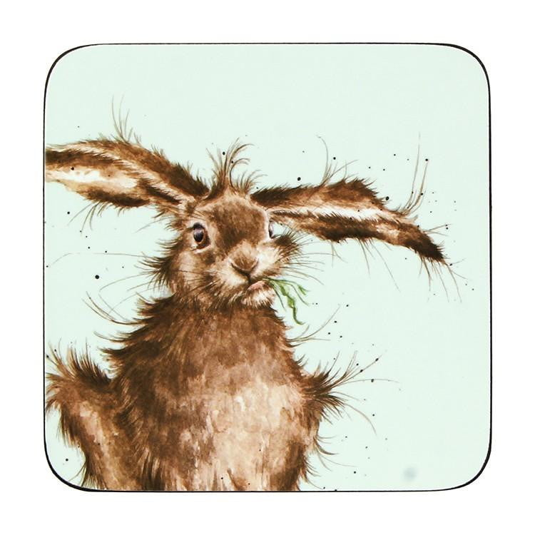 Wrendale Designs Hare Coasters - Set of 6 - Hothouse