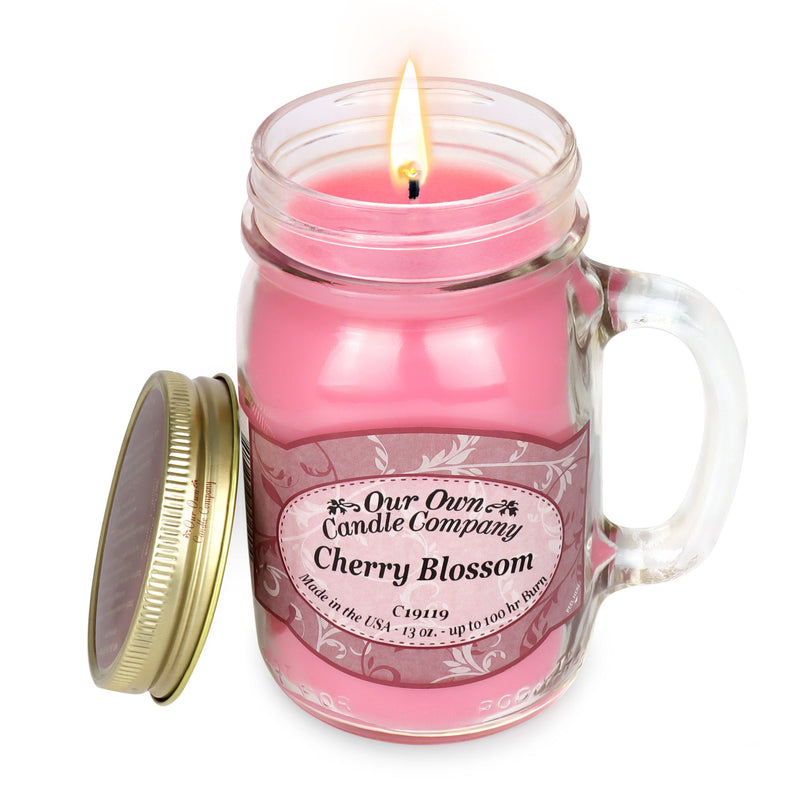 Cherry Blossom Classic Large Mason - Our Own Candle Company NI