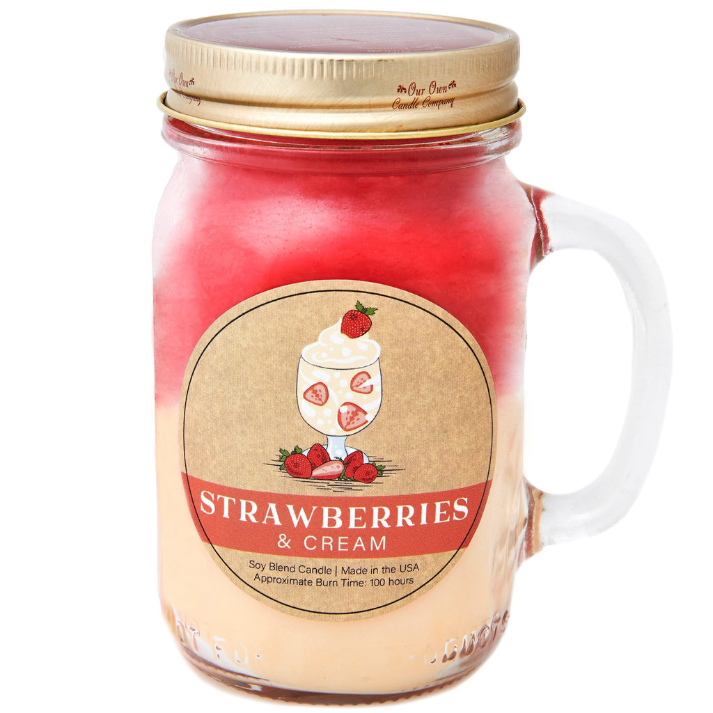 Strawberries & Cream Essentials® Candle - Our Own Candle Company NI