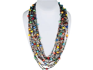 Multicolor Cascade Necklace 20-26""