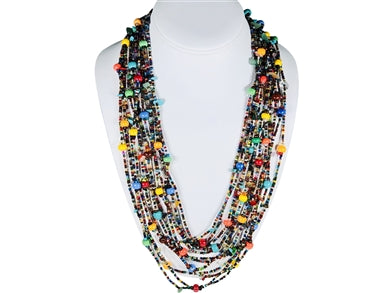 Multicolor Cascade Necklace 20-26