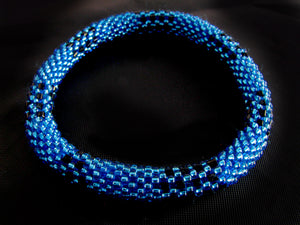 Peacock Blue Roll-On Bracelet