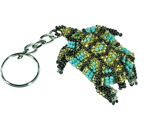 Turquoise and Gold Sea Turtle Key Chain l Backpack Charm