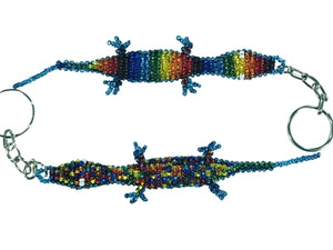 Rainbow Lizard Key Chain l Backpack Charm