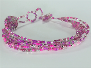 Pink and Silver Strand Bracelet
