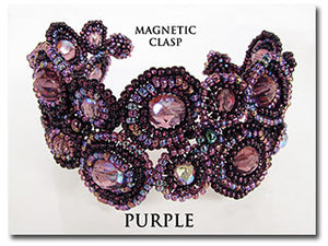 Purple Magnetic Circle Bracelet 7""