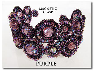Purple Magnetic Circle Bracelet 7