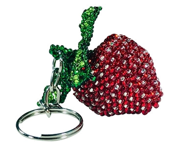 Strawberry Beaded Key Chain l Backpack Charm