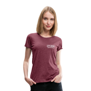 No Coffee No Talkie Tee - heather burgundy