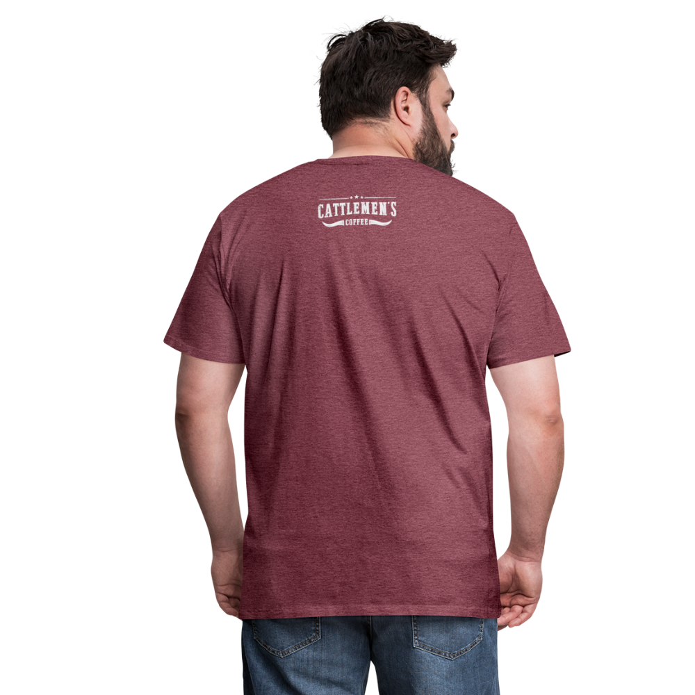 Buckin' Delicious Tee - heather burgundy