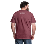 Load image into Gallery viewer, Buckin' Delicious Tee - heather burgundy