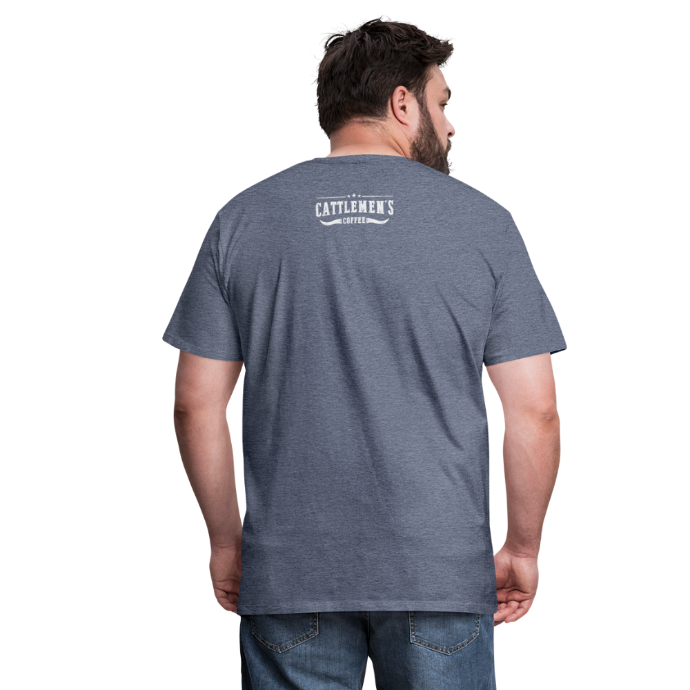 Buckin' Delicious Tee - heather blue