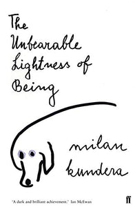 Czech writer Milan Kundera: The Unbearable Lightness of Being Book in English - Czech Poster Gallery