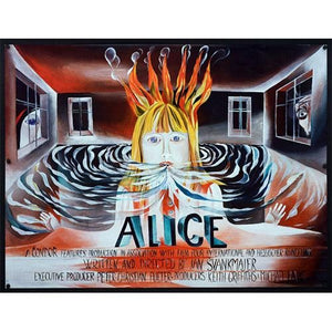Alice Czech Poster For Release in the UK - Czech Film Poster Gallery
