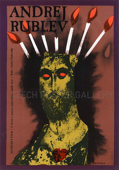 Andrei Rublev Czech Movie Poster Large - Czech Film Poster Gallery