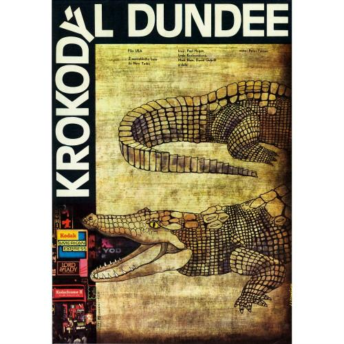 CROCODILE DUNDEE Large Czech Movie Poster - Czech Film Poster Gallery