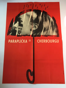 THE UMBRELLAS OF CHERBOURG (Large) Ultra Rare! - Czech Film Poster Gallery