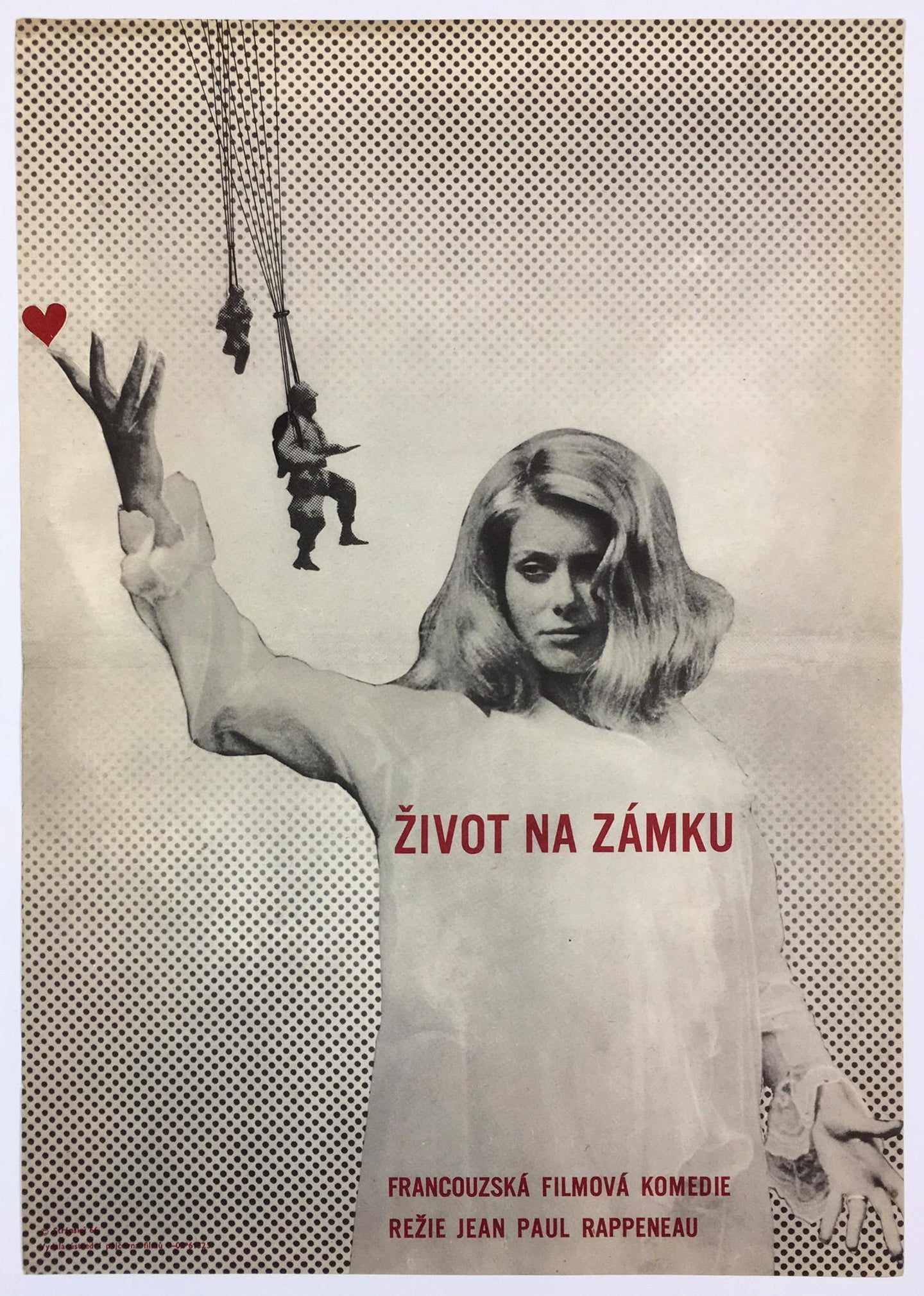 La Vie de Château (A Matter Of Resistance) Czech Poster Coola Art of Catherine Deneuve