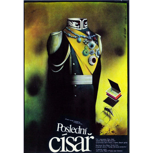 THE LAST EMPEROR Vintage Czech Movie Poster