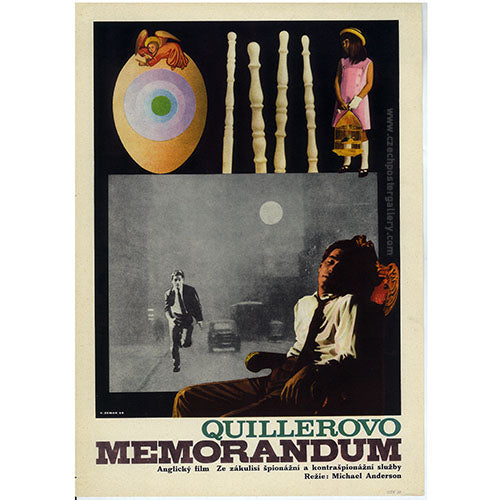 THE QUILLER MEMORANDUM Czech poster