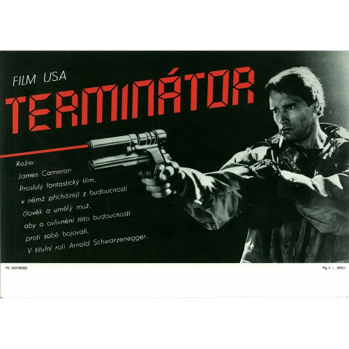 THE TERMINATOR | Czech Mini Poster