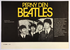 THE BEATLES - A HARD DAY'S NIGHT (Perny Den) Czech Mini Poster