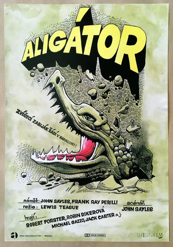 Alligator - Kaja Saudek Film Poster Art - Czech Film Poster Gallery